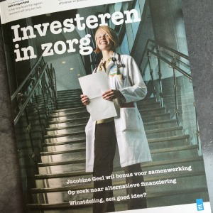 Interview Jacobine Geel voor Investeren in Zorg
